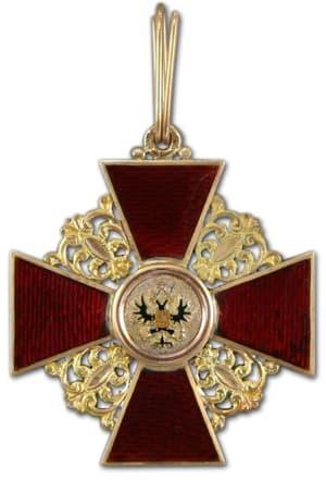 орден Святой Анны 1 степени, знак