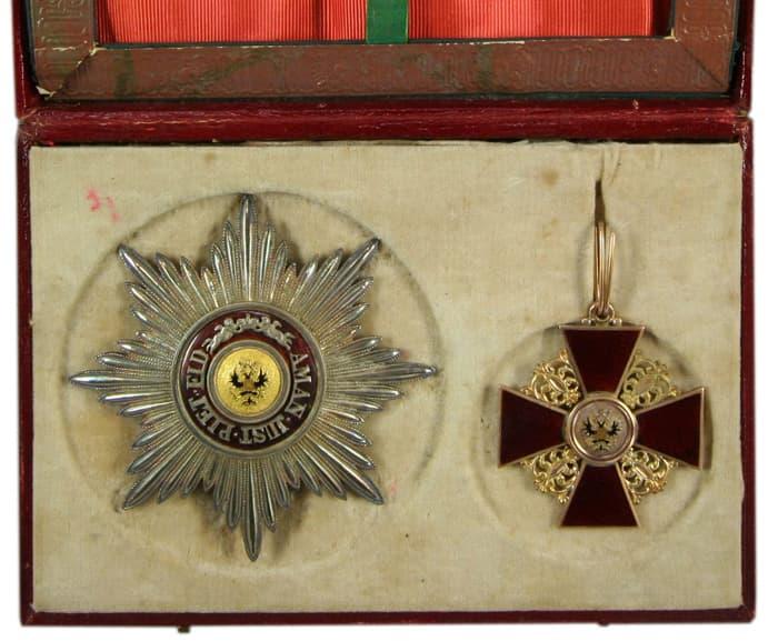орден Святой Анны 1 степени, комплект