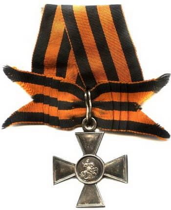 Георгиевская ленточка в виде банта на кресте 3 ст.