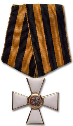 Орден Святого Георгия носимый на Георгиевской ленте