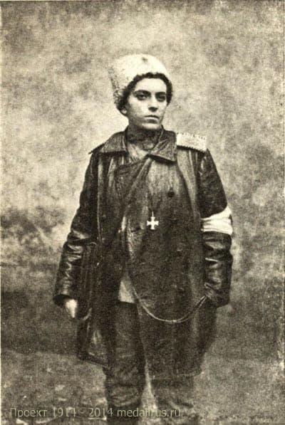 Цебржинская Елена Константиновна, фельдшер - доброволец, 186 пехотного Асландузского полка Кавалер Георгиевского креста